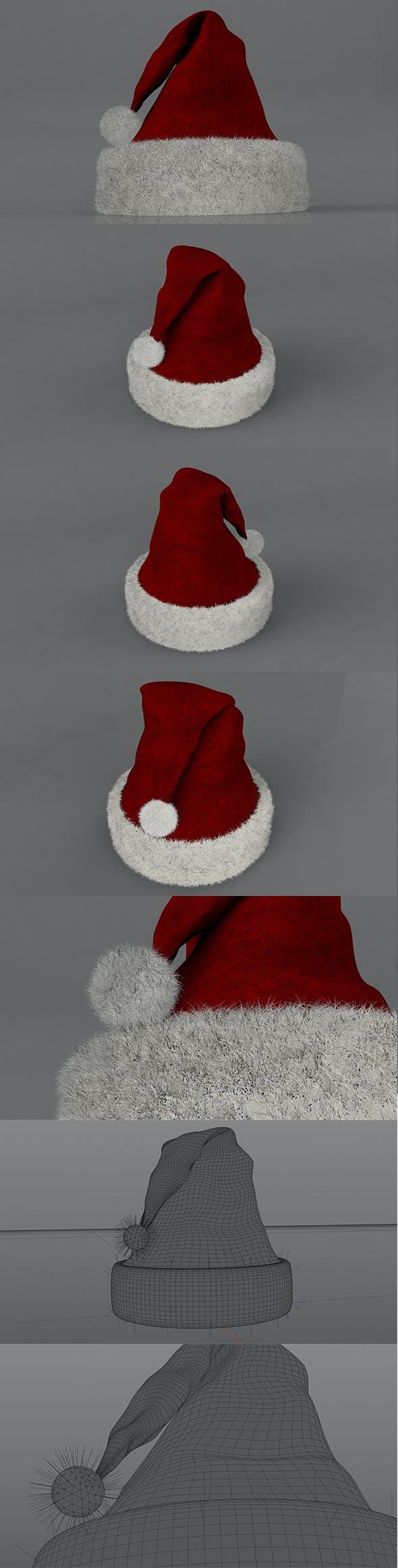 3D Christmas Hat - 3DOcean Item for Sale