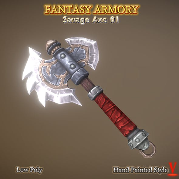 Medieval Fantasy Savage Axe 01