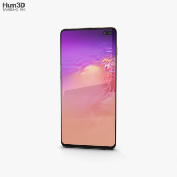 Samsung Galaxy S10 Plus Flamingo Pink - 3DOcean Item for Sale