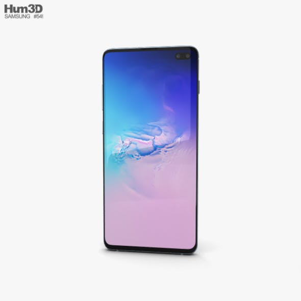 Samsung Galaxy S10 Plus Prism Blue - 3DOcean Item for Sale