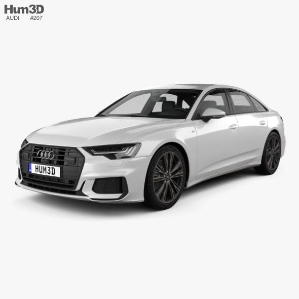 Audi A6 sedan S-Line 2018 - 3DOcean Item for Sale
