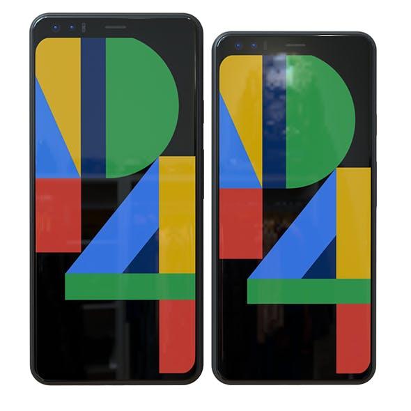Google Pixel 4- Pixel 4 XL Set Element 3D - 3DOcean Item for Sale