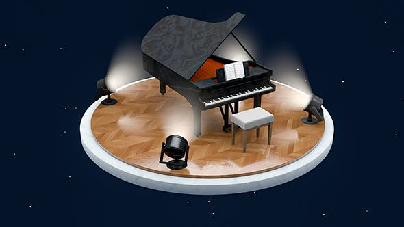 PIANO SCANE - 3DOcean Item for Sale