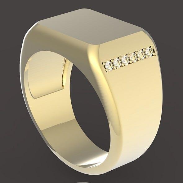 Signet ring - 3DOcean Item for Sale