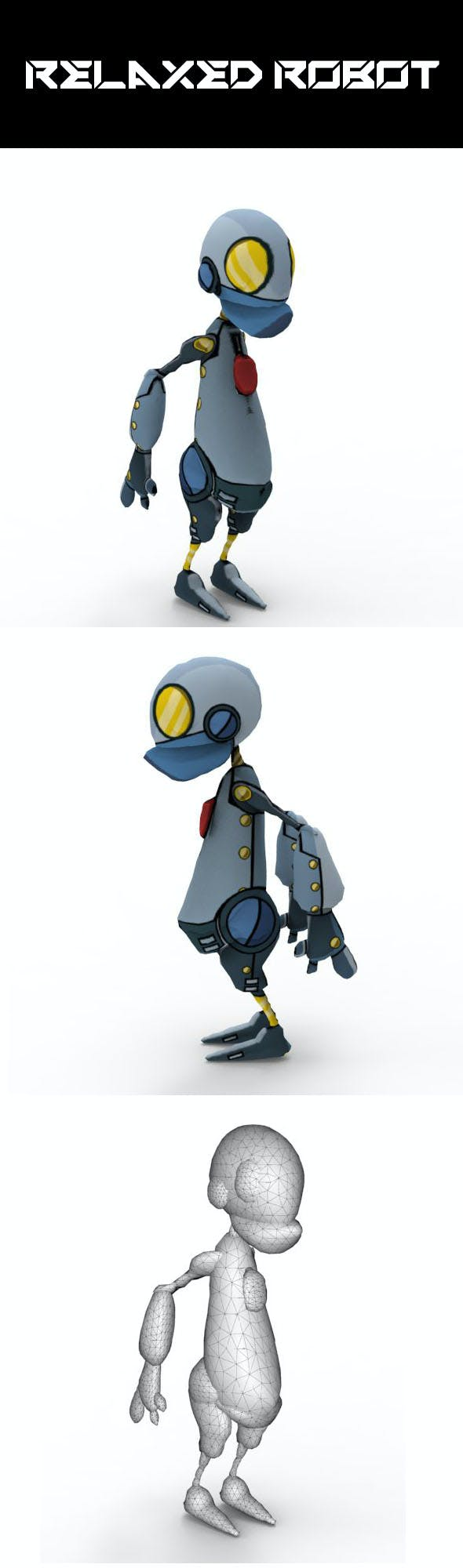 Relaxed Robot - 3DOcean Item for Sale