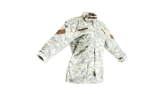 Military ACU jacket with PBR textures 09 - 3DOcean Item for Sale