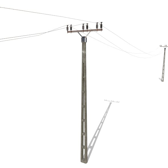 Electricity Pole 20 - 3DOcean Item for Sale