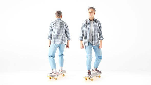 Young man on a skate 19 - 3DOcean Item for Sale