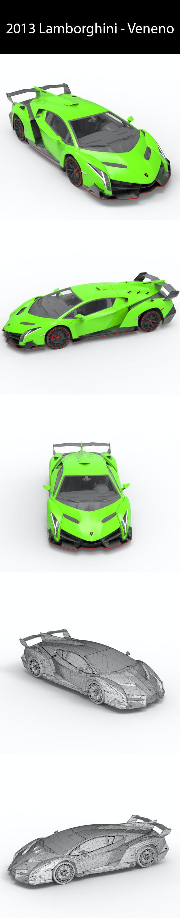2013 Lamborghini - Veneno - 3DOcean Item for Sale