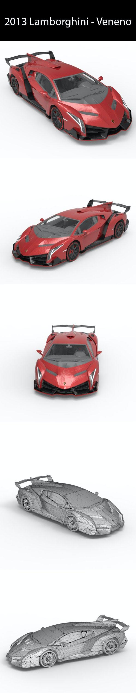 2013 Lamborghini - Veneno - 3DOcean Item for Sale