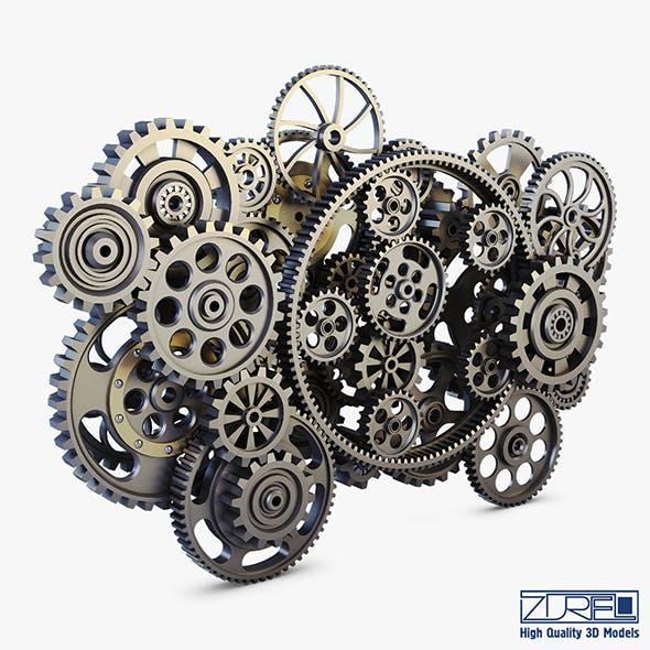 Gear Mechanism Low Poly v 2 - 3DOcean Item for Sale