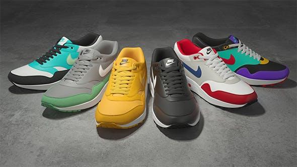 Nike Air Max 1 v2 3D model - 3DOcean Item for Sale