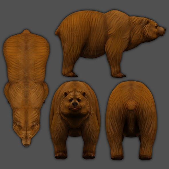 Bear 3d Low-poly 3D model