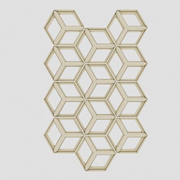 Hexagon Panel - 3DOcean Item for Sale