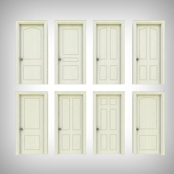 Interior Door Collection - 3DOcean Item for Sale