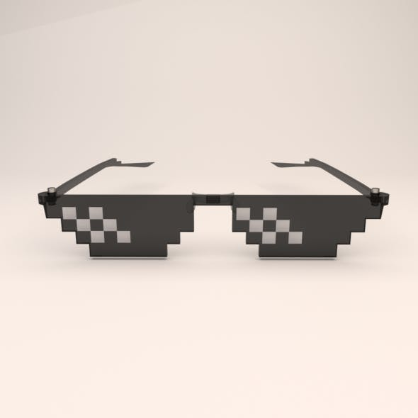 8 bit pixel thug life glasses - 3DOcean Item for Sale