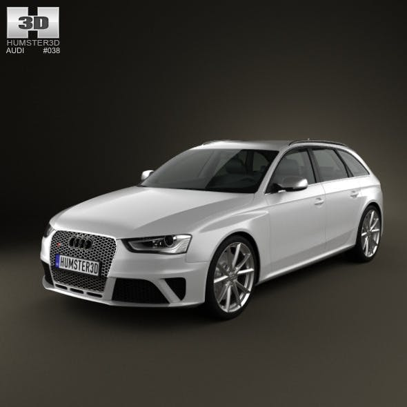 Audi RS4 Avant 2013 - 3DOcean Item for Sale