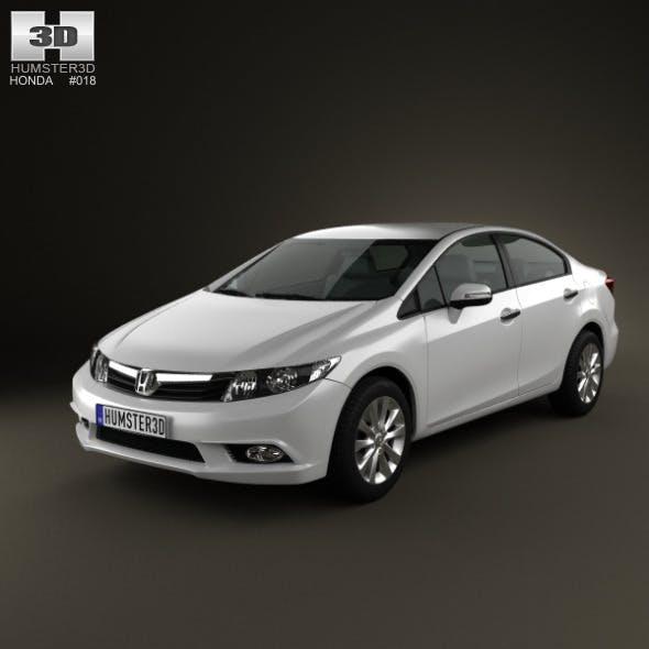 Honda Civic Sedan 2012 - 3DOcean Item for Sale