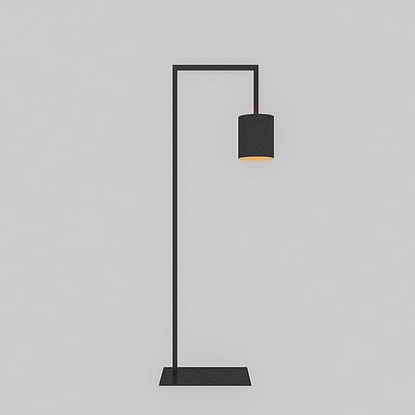 3D Black Floor Lamp - 3DOcean Item for Sale