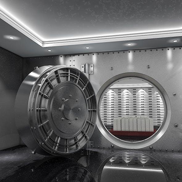 Bank Vault & Coins - 3DOcean Item for Sale