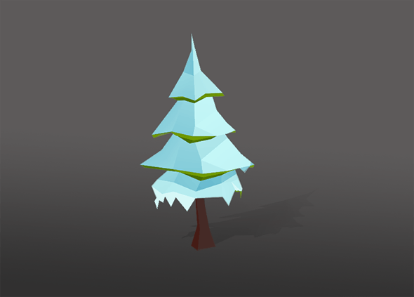 Low Poly Tree - Christmas tree - 3DOcean Item for Sale