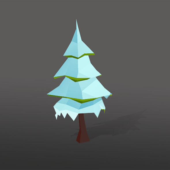 Low Poly Tree - Christmas tree