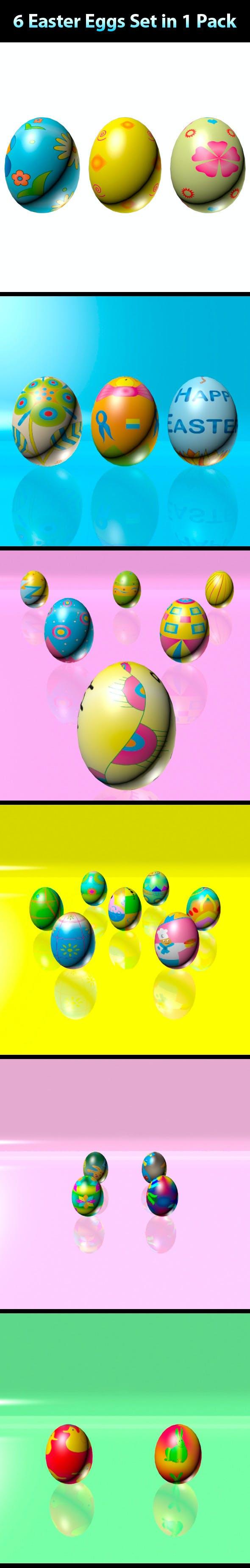 Easter Eggs Set - Mega Pack 01 - 3DOcean Item for Sale