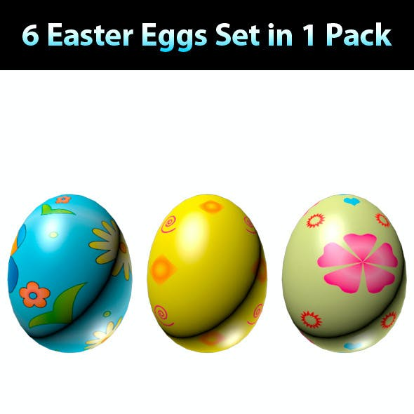 Easter Eggs Set - Mega Pack 01