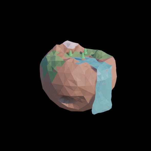 Low Poly Island - 3DOcean Item for Sale
