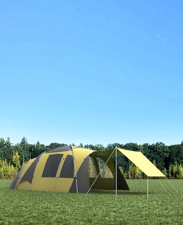 Camping Tent - 3DOcean Item for Sale