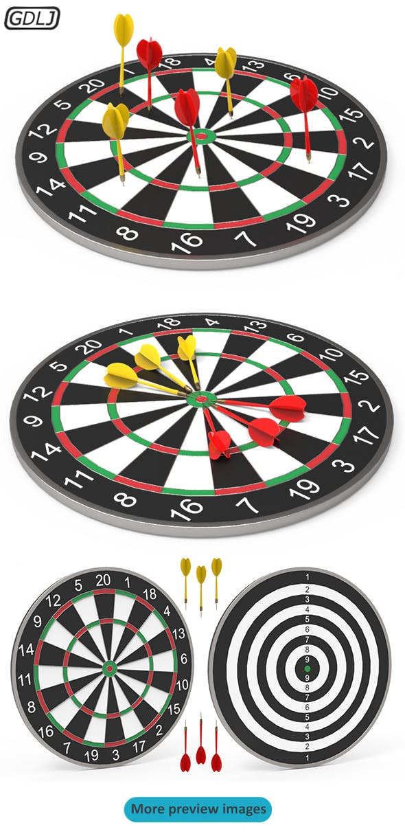 DartBoard - Realistic - 3DOcean Item for Sale