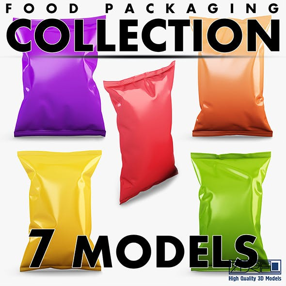 Food packaging collection volume 1 - 3DOcean Item for Sale