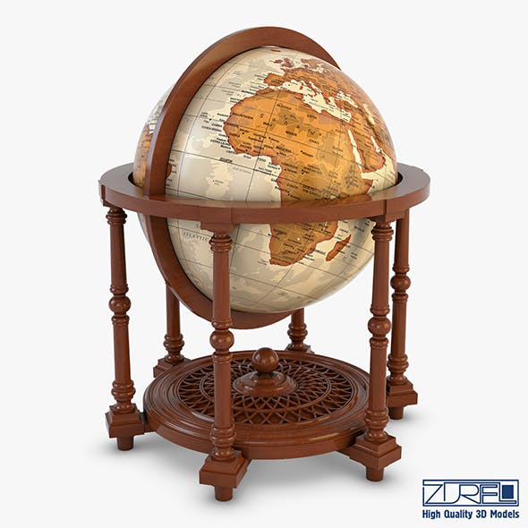 Antique Globe - 3DOcean Item for Sale