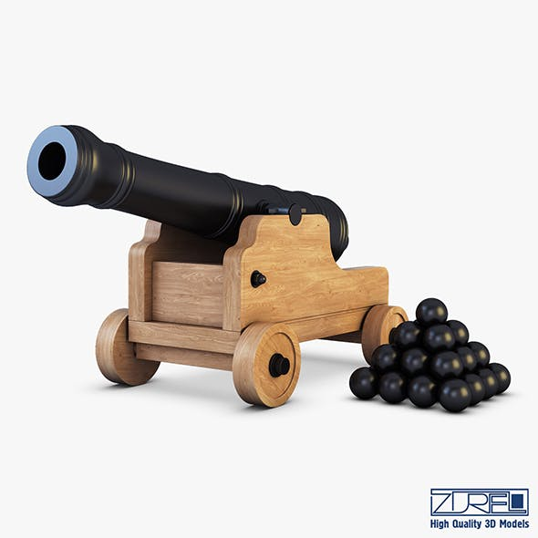 Ancient Cannon - 3DOcean Item for Sale