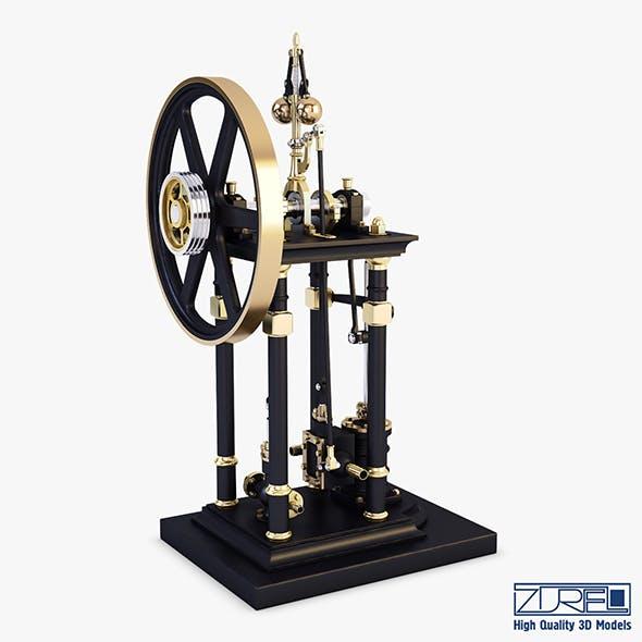 Vertical Steam Engine v 1 - 3DOcean Item for Sale