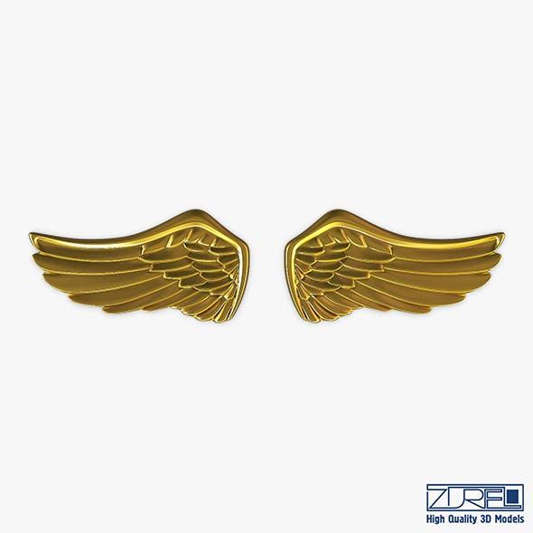 Eagle Wings Gold v 1 - 3DOcean Item for Sale