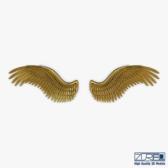 Eagle Wings Gold v 2 - 3DOcean Item for Sale