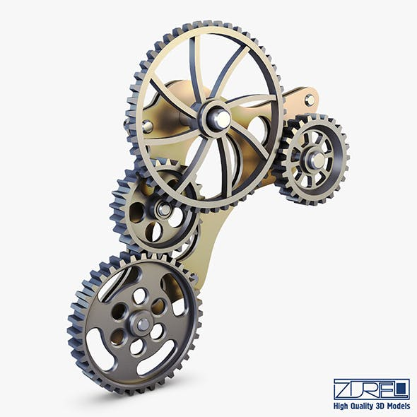Gear Mechanism Low Poly v 4 - 3DOcean Item for Sale