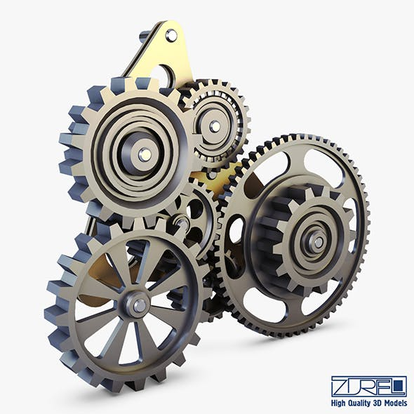 Gear Mechanism Low Poly v 5