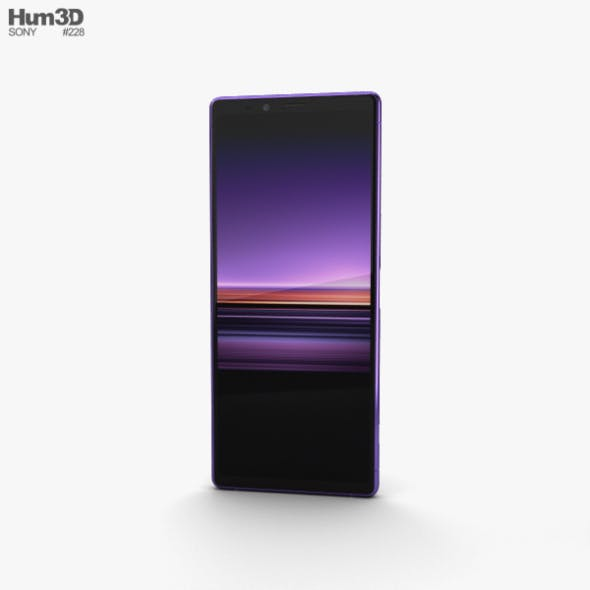 Sony Xperia 1 Purple - 3DOcean Item for Sale