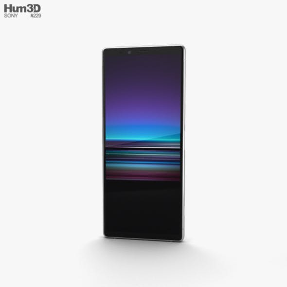 Sony Xperia 1 White - 3DOcean Item for Sale