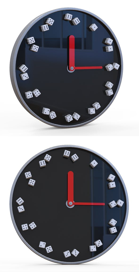 Dice Clock - 3DOcean Item for Sale