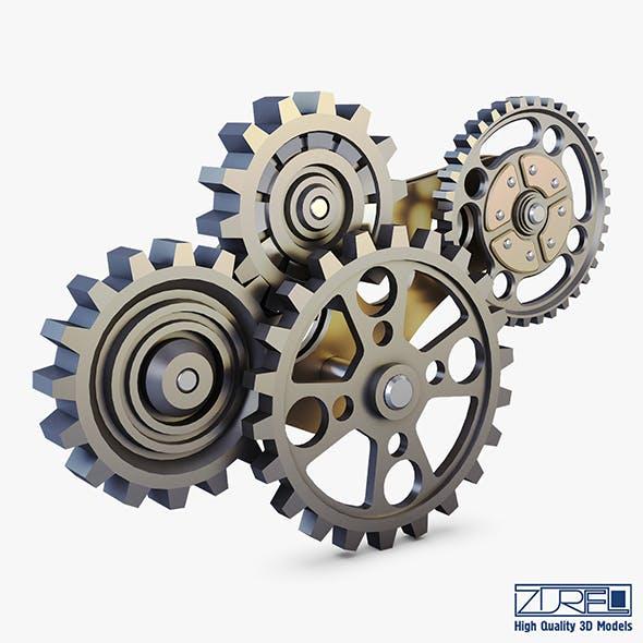 Gear Mechanism Low Poly v 6 - 3DOcean Item for Sale
