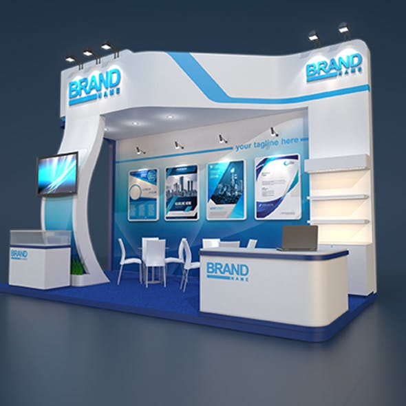3d exhibitin stand model