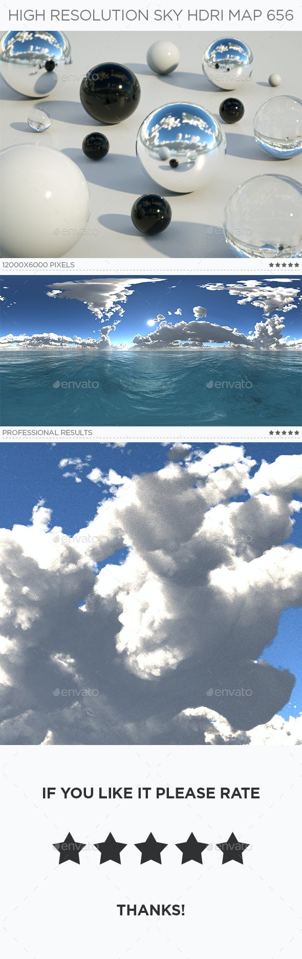 High Resolution Sky HDRi Map 656 - 3DOcean Item for Sale