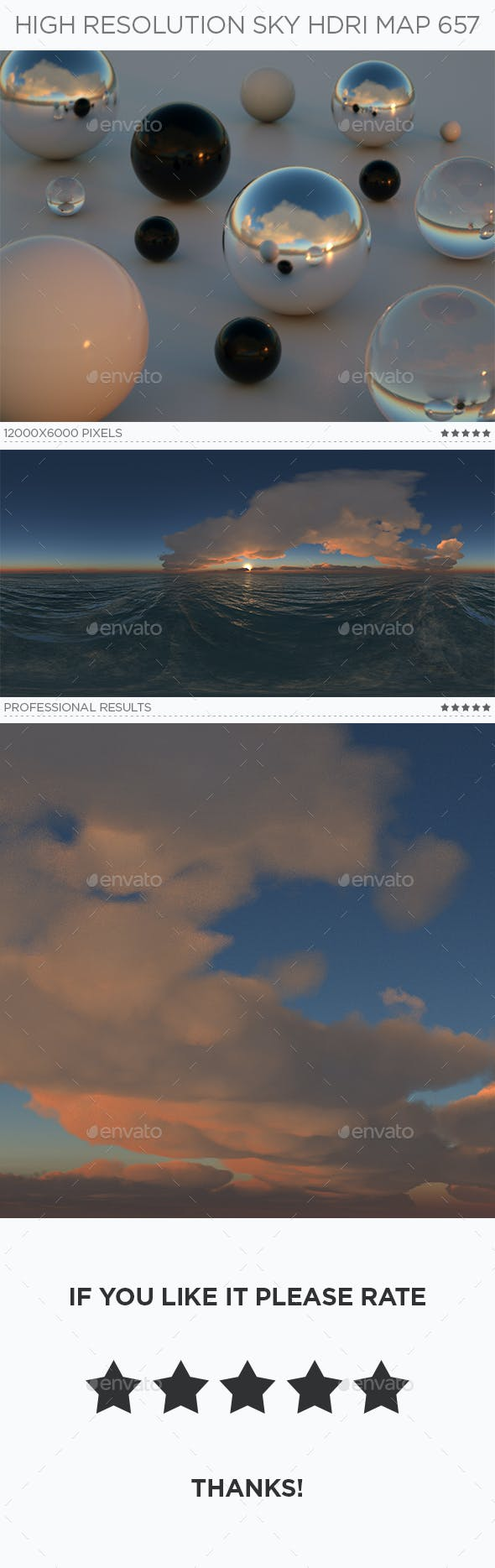 High Resolution Sky HDRi Map 657 - 3DOcean Item for Sale