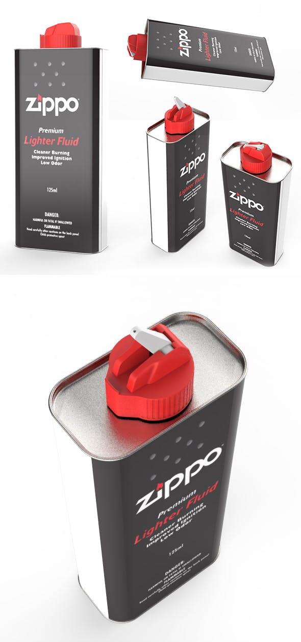 Zippo Lighter Fluid - 125ml - 3DOcean Item for Sale