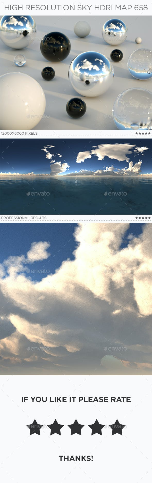 High Resolution Sky HDRi Map 658 - 3DOcean Item for Sale