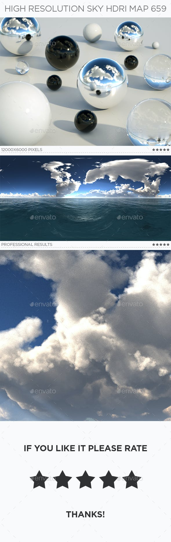High Resolution Sky HDRi Map 659 - 3DOcean Item for Sale