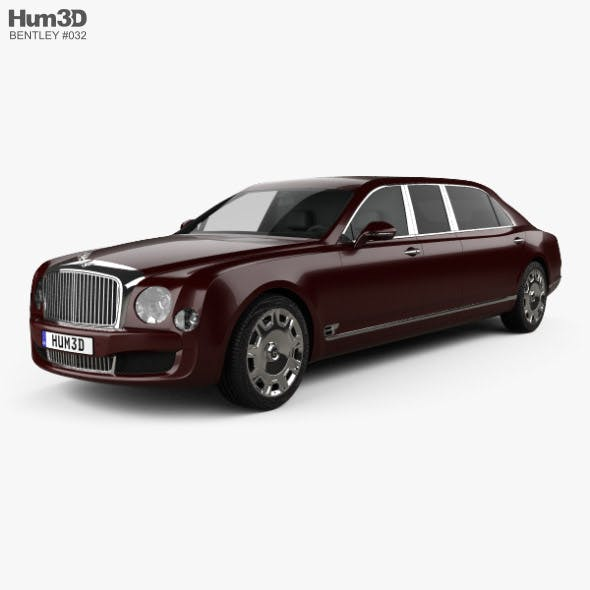 Bentley Mulsanne Grand Limousine Mulliner 2017 - 3DOcean Item for Sale